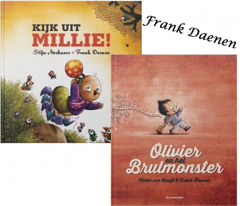 cover van de boeken 'Kijk uit Millie' en 'Olivier en het brulmonster'